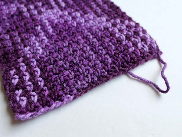 how to begin loops and threads pooling plaid crochet yarn purple plush colourway