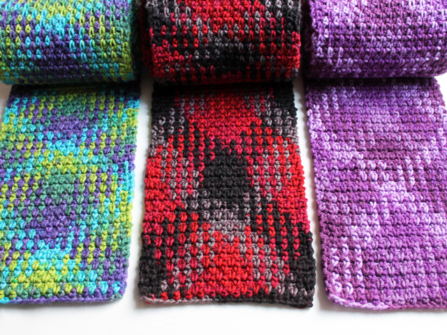 loops and threads yarn pooling plaid crochet with stitch count and instructions how to