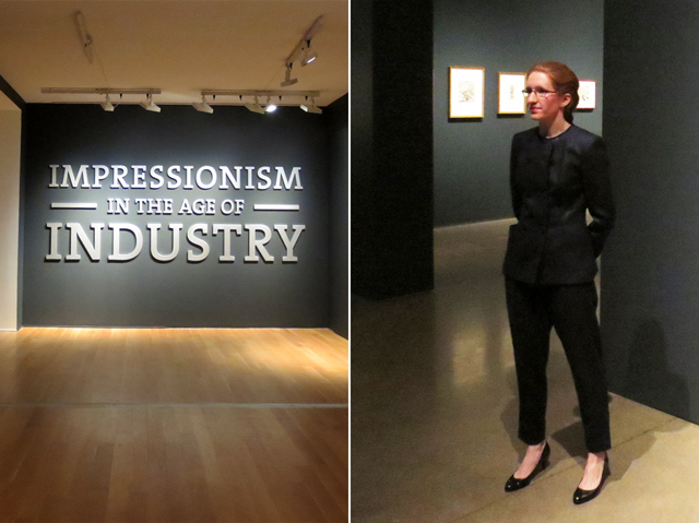 Dr Caroline Shields curator of Impressionism in the Age of Industry Exhibition at the AGO art in Toronto 1