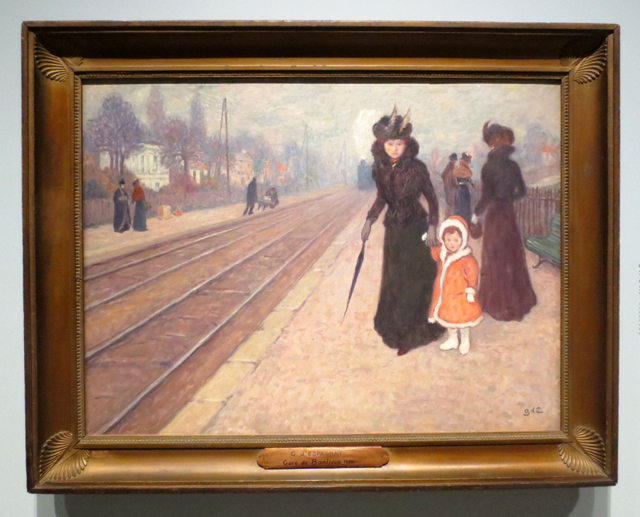 a suburban railway station by georges despagnat on display at ago toronto impressionism in the age of industry exhibition