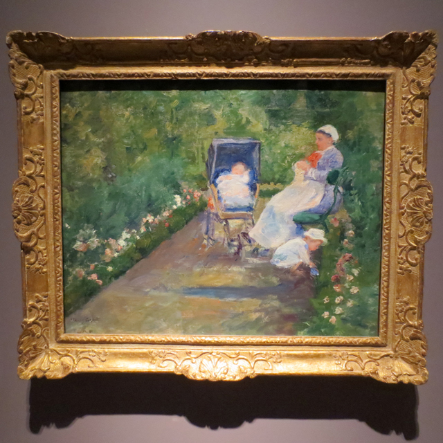 children in a garden the nurse by mary cassatt on display at ago toronto in impressionism in the age of industry exhibition