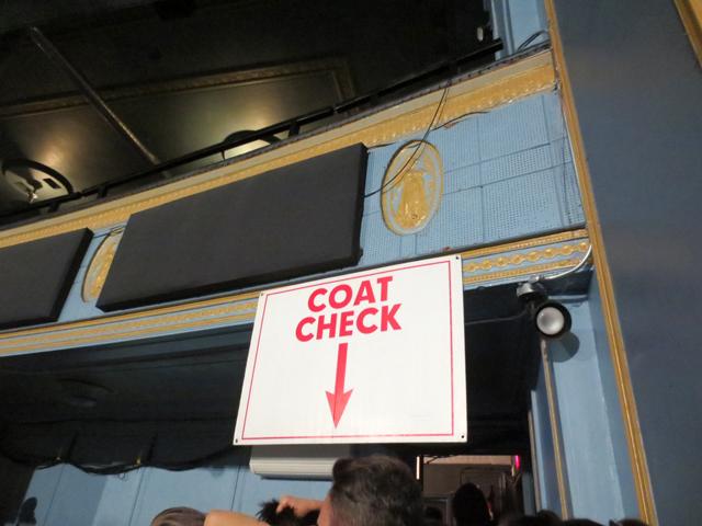 coat check line