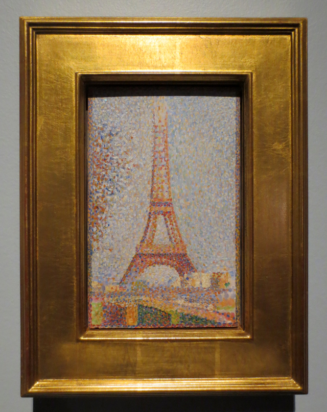 eiffel tower by george seurat on display at ago toronto art gallery impressionism in the age of industry exhibition winter twenty nineteen
