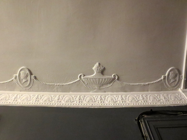 hundred year old decorative molding at the danforth music hall