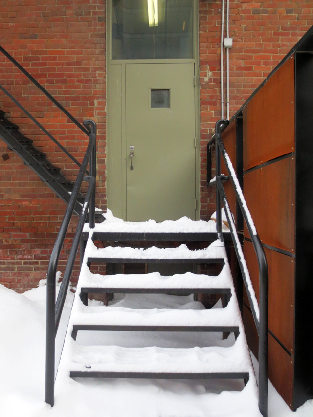 outdoor stairs in the snow toronto