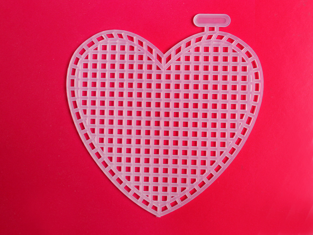plastic canvas heart to use for needle point by loops and threads from michaels