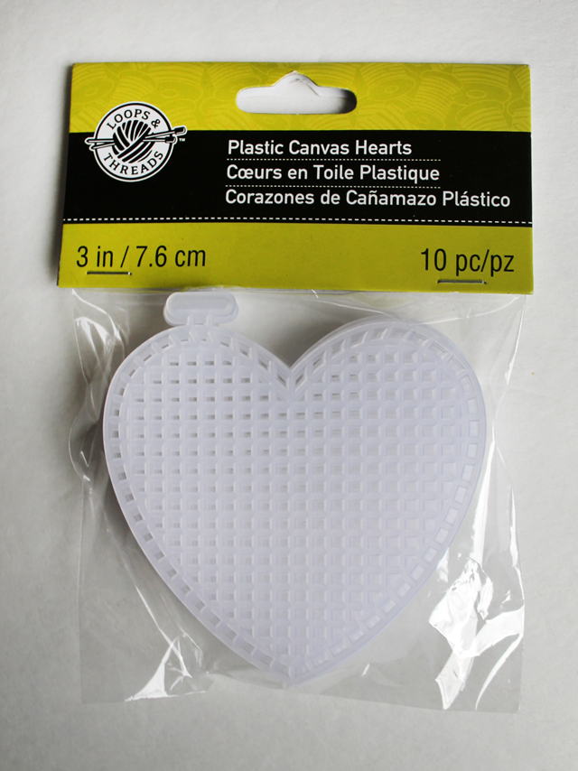 plastic canvas hearts by loops and threads found at michaels ten pack