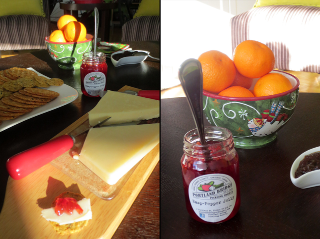 portland ridge raspberry pepper jelly with aged cheddar local food prince edward county ontario canada