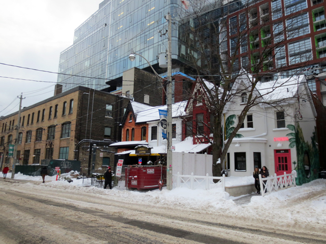 renovated historic homes in snowy toronto portland street