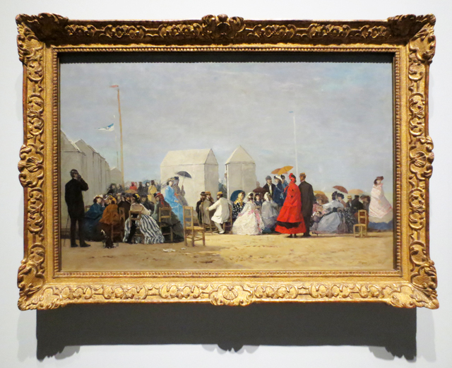the beach at trouville by eugene boudin at ago toronto art gallery of ontario