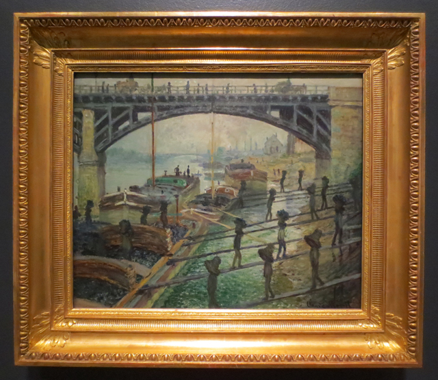 the coalmen by claude monet on display at the ago toronto part of impressionism in the age of industry exhibition