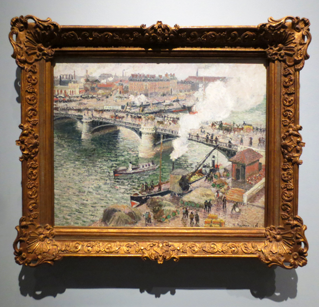 the pont boieldieu rouen damp weather by camille pissarro at ago toronto