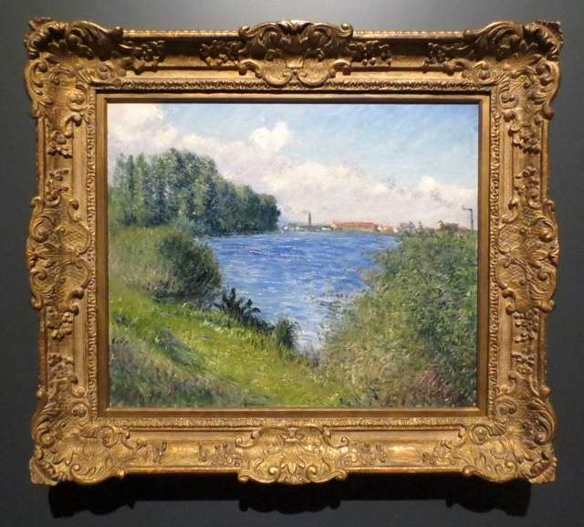 the seine at argenteuil by gustave caillebotte on display at ago toronto impressionism in the age of industry exhibition