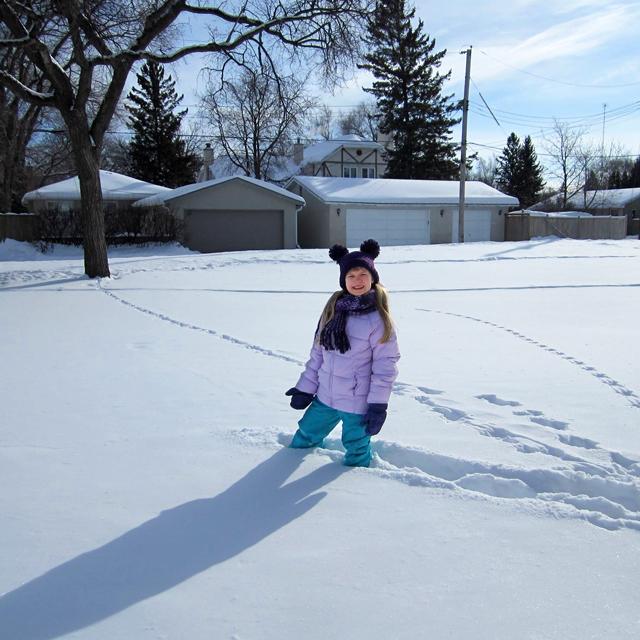 d walking in deep snow
