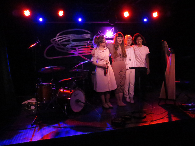 emilie kahn and band at the drake in toronto march twenty nineteen