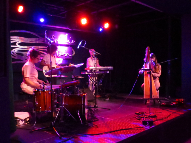 emilie kahn and band performing at the drake underground toronto
