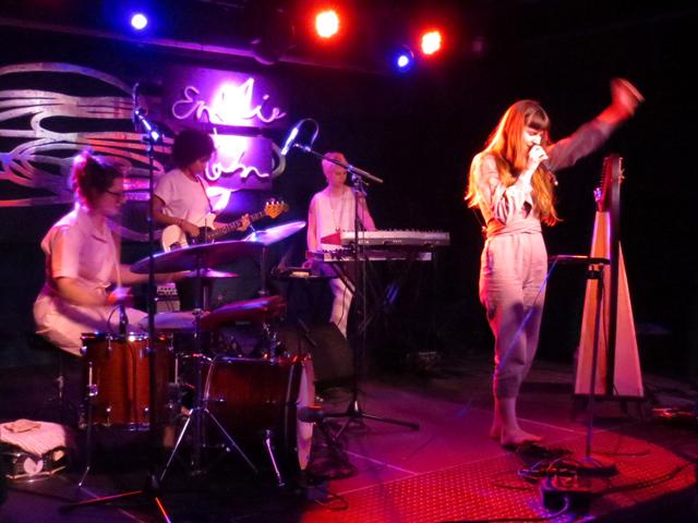 emilie kahn and band performing toronto at drake hotel