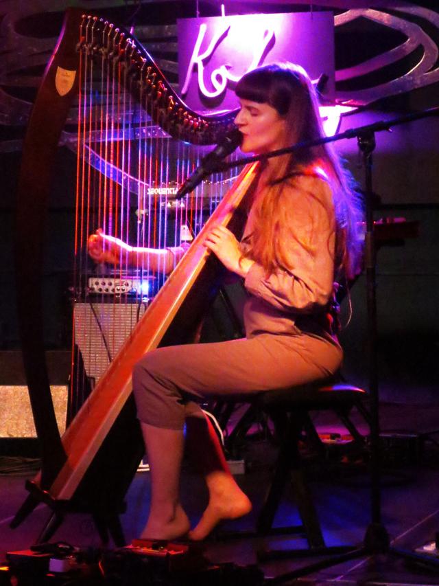 emilie kahn playing harp the drake hotel toronto