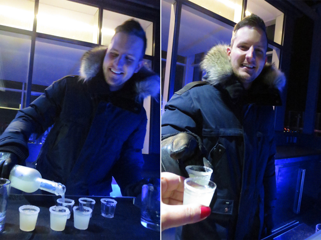 friendly bartender falcon skybar hotel x outdoor rooftop terrace toronto cne grounds