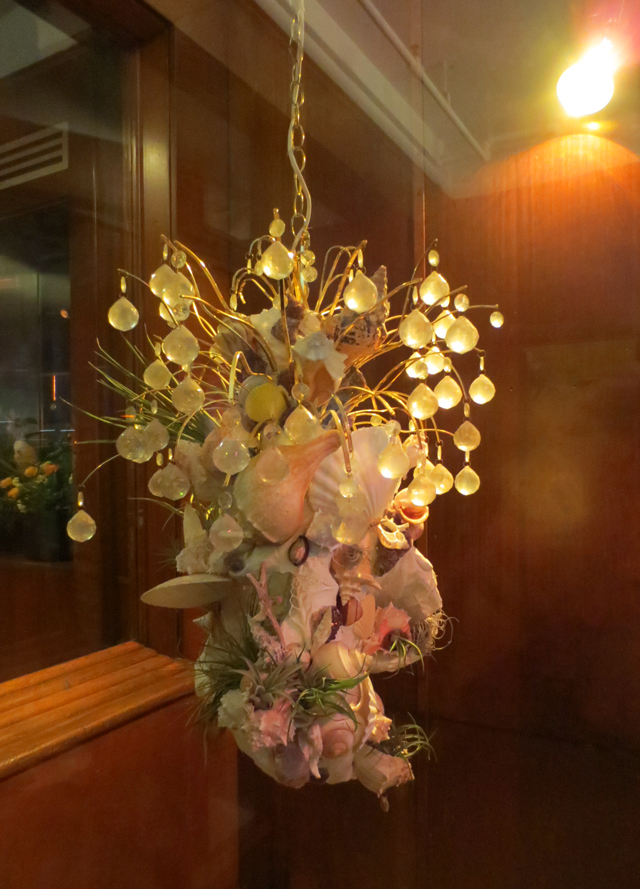 hanging sculpture by Bethany Rose Puttkemery on display in lobby of the drake hotel toronto