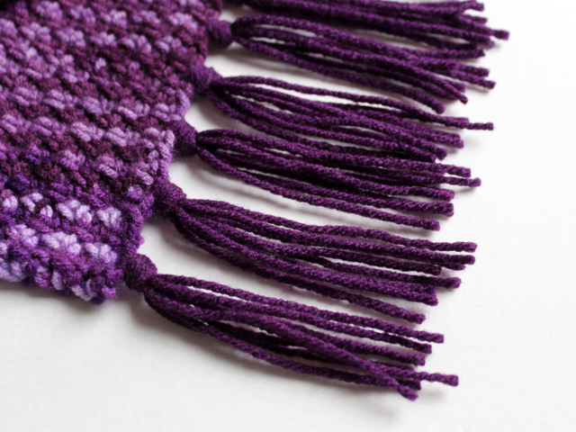 how to add a fringe to a handmade scarf