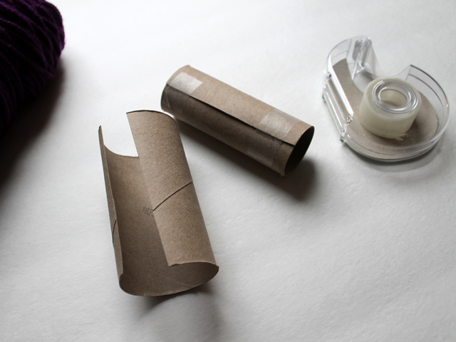 making tp cardboard roll smaller
