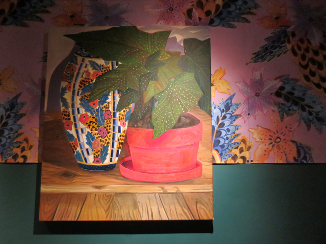painting by anna valdez on display in lobby at the drake hotel queen street west toronto