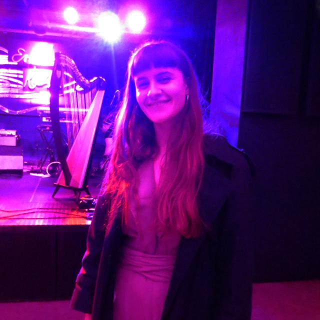 songwriter harpist singer emilie kahn at the drake underground toronto march twenty nineteen