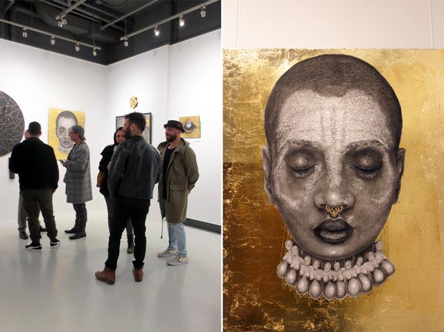 dalia elcharbini solo exhibition at c9 independent art gallery toronto