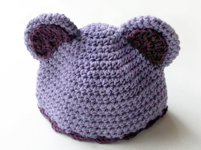 how to crochet a hat with ears for a baby free pattern