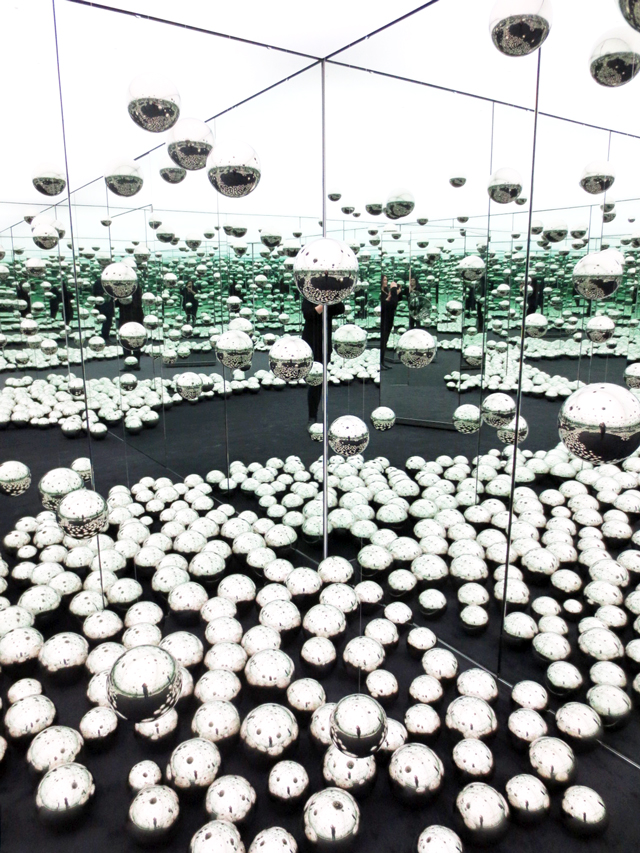 lets survive forever infinity mirrored room by yayoi kusama at art gallery of ontario toronto ago