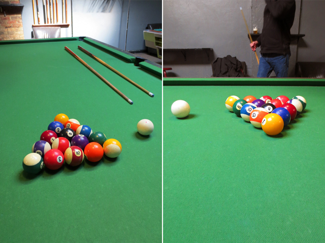 playing pool at rivoli pool hall queen street west toronto