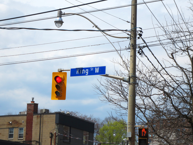 king street west street sign toronto