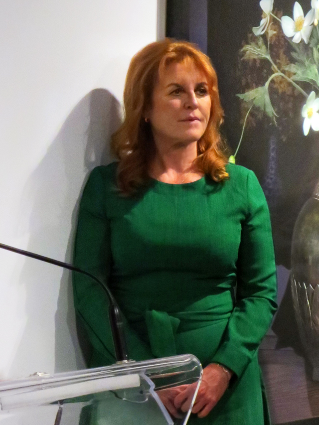 sarah ferguson duchess of york in toronto at ocadu onsite art gallery