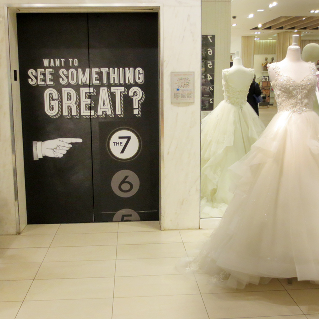 take elevator to seventh floor for kleinfeld bridal boutique the bay queen street store