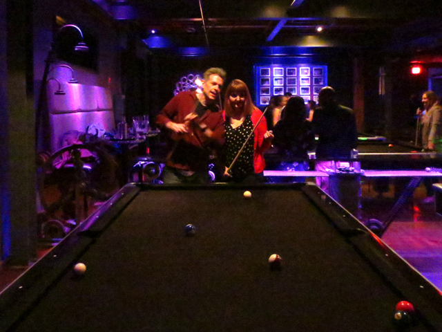 discussing strategy at the raq pool hall queen street west toronto