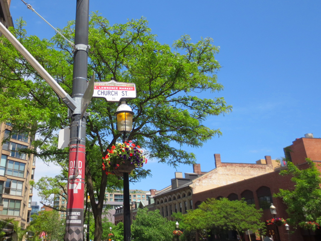 church street and wellington front historic old town neighbourhood in toronto