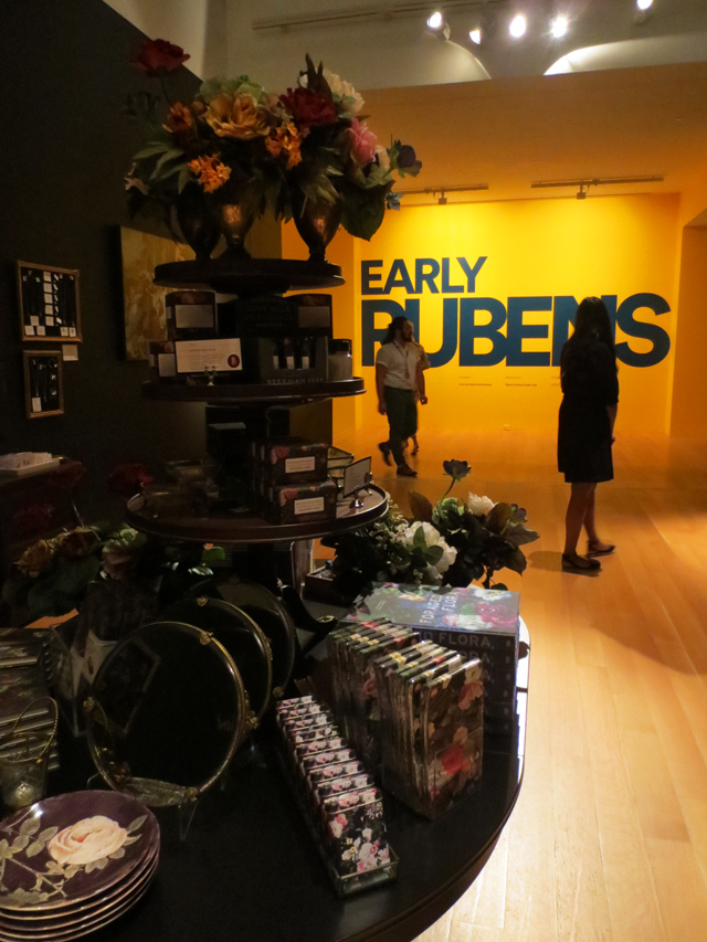 the gift shop at the ago for the early rubens exhibition toronto