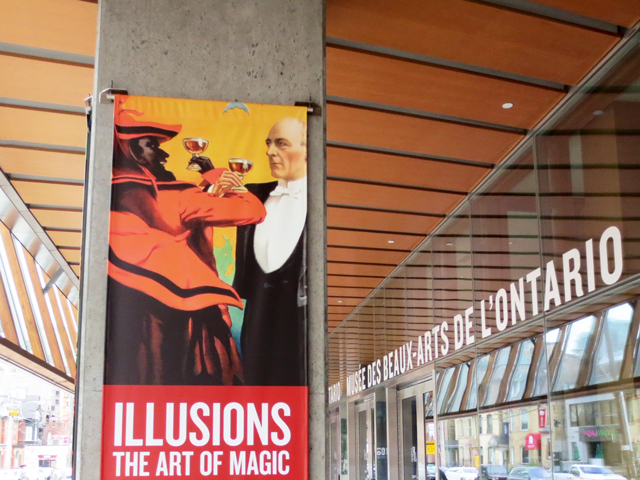 poster outside the ago in toronto illusions the art of magic exhibition