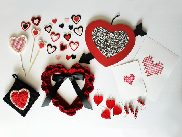 seven projects handmade for valentines